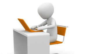 Der Text für die Wordpress Webseite wird erstellt